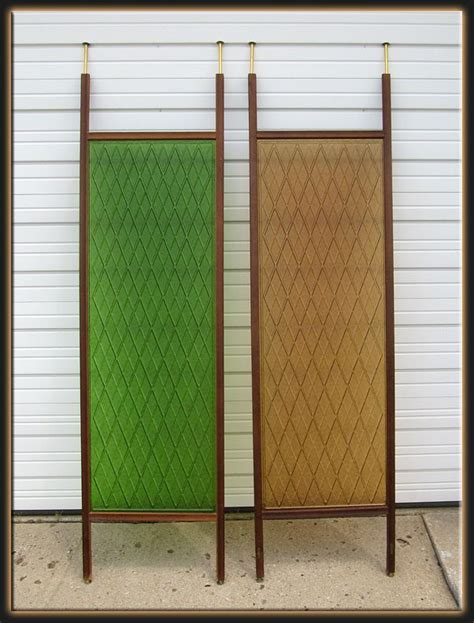 Tension Pole Room Divider Mid Century Tension Pole Room Dividers In Green And Golden Acrylic Amazing Glass Pinterest