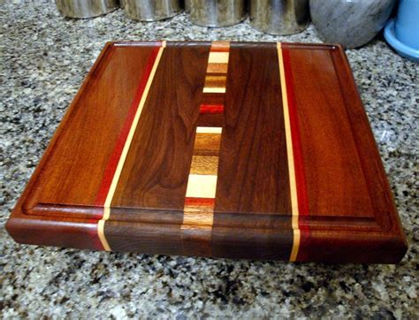 Handmade Chopping Boards - personalized laser engraved handmade medium wood cutting board
