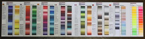 Madeira Thread Color Chart   Threads the back stitch