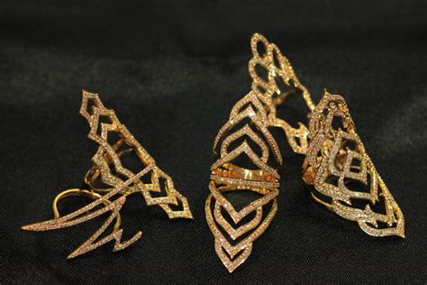 Gold Fashion Nersels Designer Trendy Gold Jewelry by Jewels Armor Ring Jewelry Wholesale Designer Ring