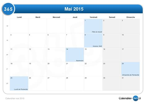 Calendrier 7 Mai Pin Calendrier Mai 2015 On