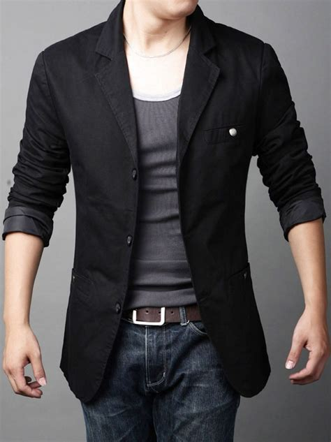 Blezer Denim casual blazer with ideas for designers collection