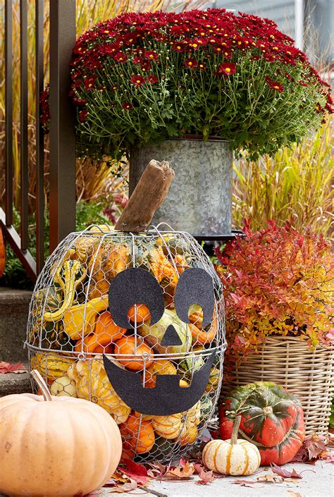 outdoor fall decorating ideas  showcase