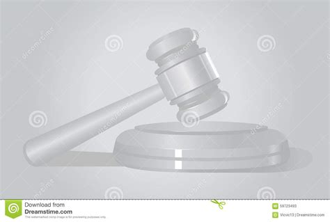 law court hammer white background auction stock photo