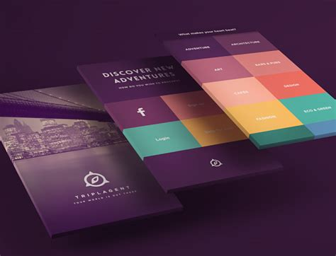 flat design app mockup presenting your web mockups with added 3d flair