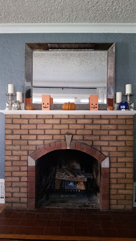 refresh brick fireplace how to refresh a vintage fireplace