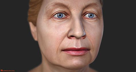 woman face 45 age related changes of woman face 3d animation