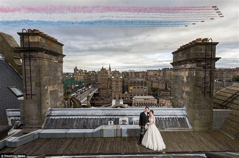 edinburgh tattoo fly past schedule wedded couple find a way to get round team s no flypasts