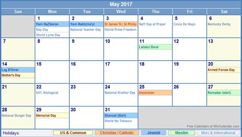 image gallery may holidays 2015 may 2017 calendar printable with holidays monthly