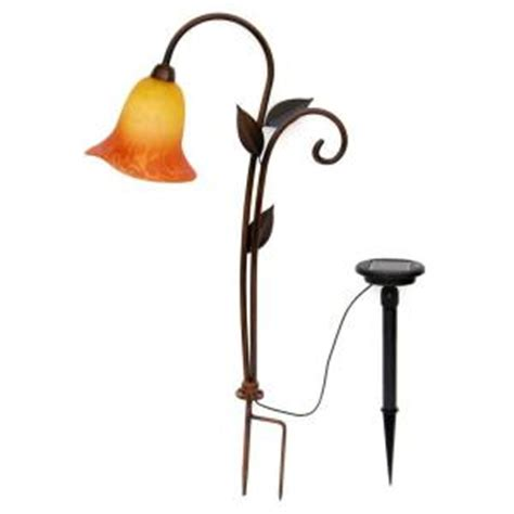 trendscape solar lights trendscape single pc tulip glass solar led light gx