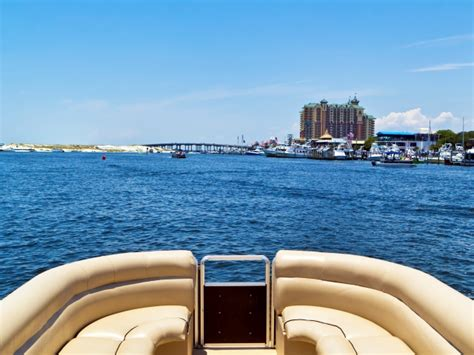 power boat rental destin fl destin pontoon boat rental with gilligan s watersports