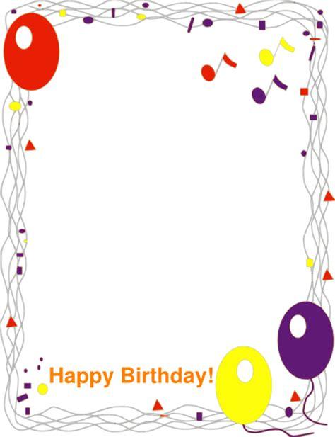 Happy Birthday Border Clip Art At Clker Com Vector Clip Free Birthday Border