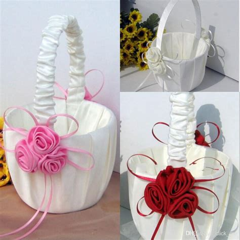 Flower Wedding Baskets by Flower Baskets For Wedding Favors Basket Bridesmaid