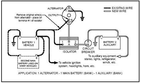 how to wire dual batteries isolator battery selector