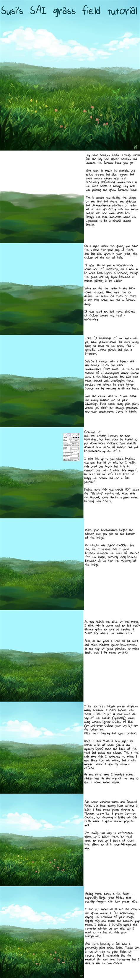 paint tool sai grass tutorial pe background tutorials by rydi1689 on deviantart