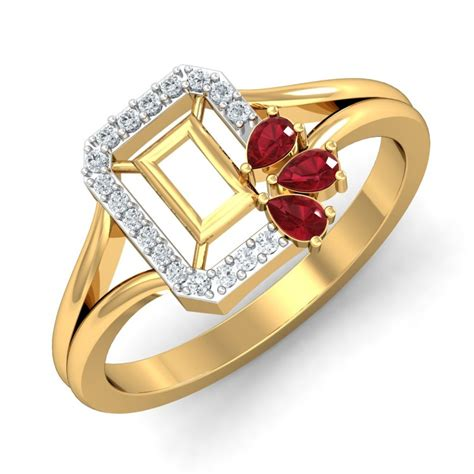 Wedding Ring Design India by Ruby Rings Designs For In India Damor In