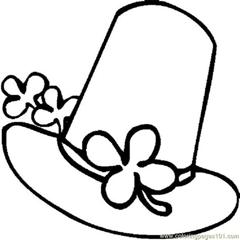 coloring page hat st patricks day hats coloring pages free printable