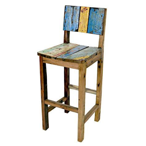 Reclaimed Wood Bar Stool Ecologica Furniture Reclaimed Wood Bar Stool