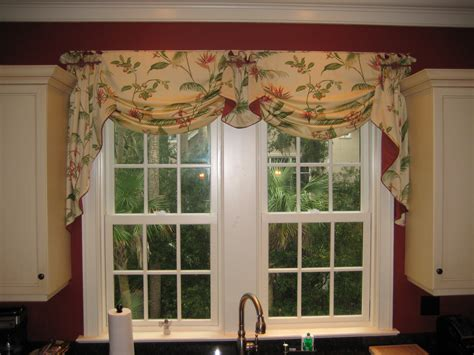 Kitchen Window Valences Window Treatments Black Design