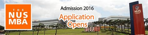 Nus Mba Time Admission nus admissions archives general education