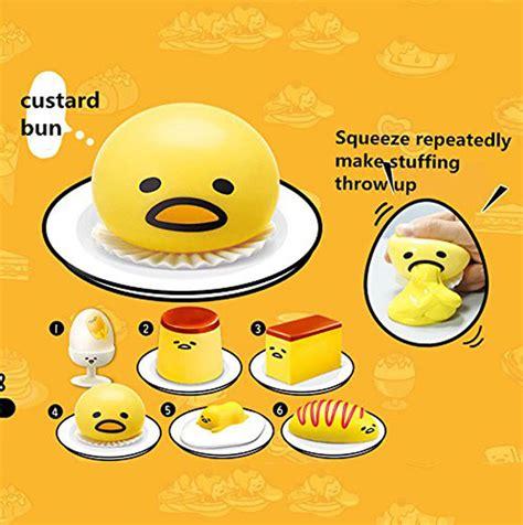 Gudetama Muntah Slime Squishy Anti Stress gudetama yolk anti stress reliever novelty gudetama squeeze throw up yellow egg