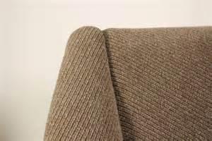 1950s three seat sofa foam padding fabric upholstery metal