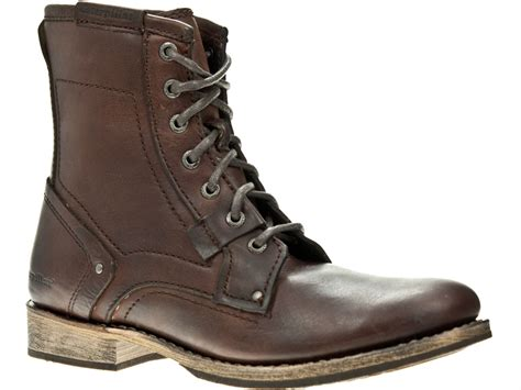 Kickers Zipper Boot Brown mens brown leather ankle boots cr boot
