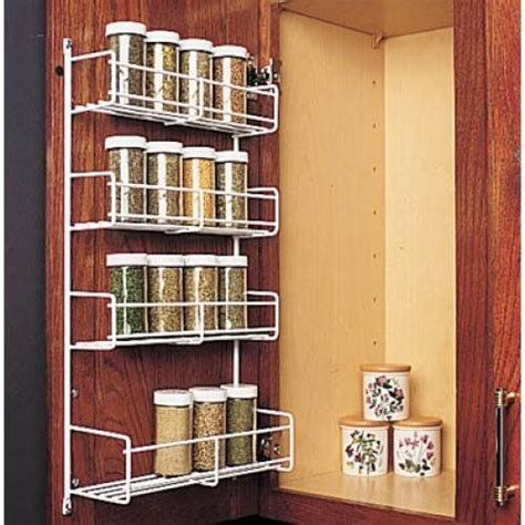 inside cabinet door spice rack knape vogt sr 12wh door mount wire spice rack 7 3 4 inch w white