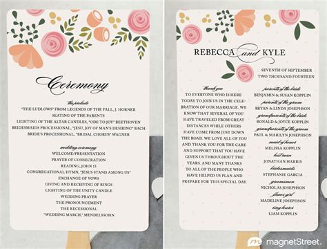 traditional wedding program templates 2 modern wedding program and templates modern wedding