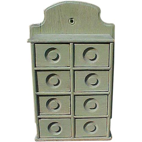 Primitive Apothecary Cabinet by Primitive Spice Apothecary Cabinet In Green Paint