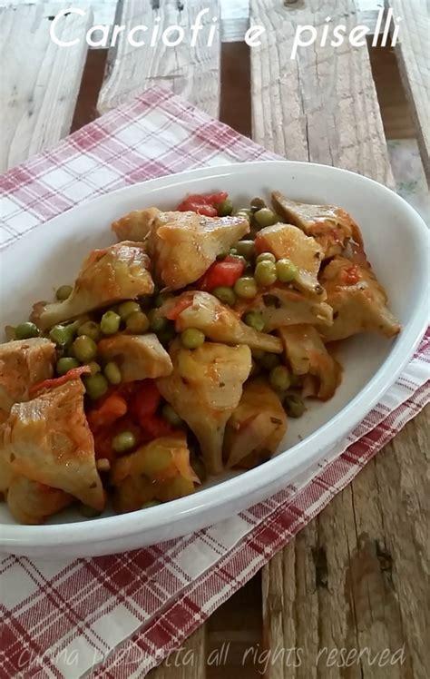 cucinare piselli carciofi e piselli ricetta contorno cucina prediletta