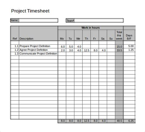 time card template project 21 project timesheet templates free sle exle