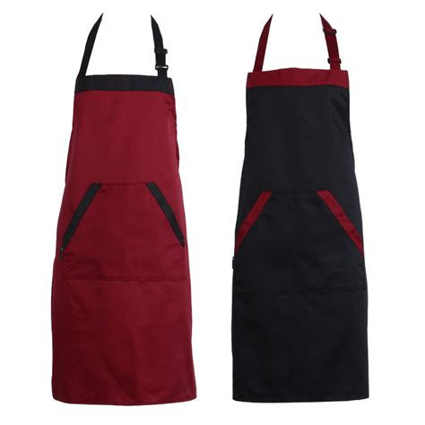 Kitchen Aprons Unisex Halterneck Cooking Baking Aprons Catering Home