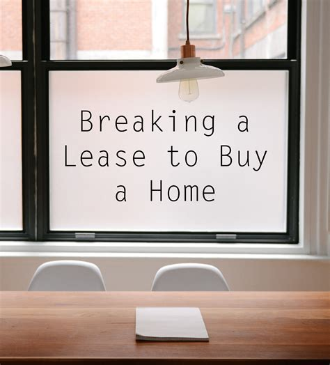 can you break a lease if you buy a house breaking a lease to buy a home lamb real estate