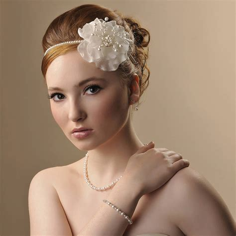 Handmade Bridal Headpieces - handmade verity wedding headpiece by rosie willett designs