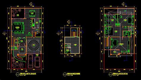 gambar kerja desain rumah tinggal xm file dwg kaula ngora  kumpulan gambar kerja