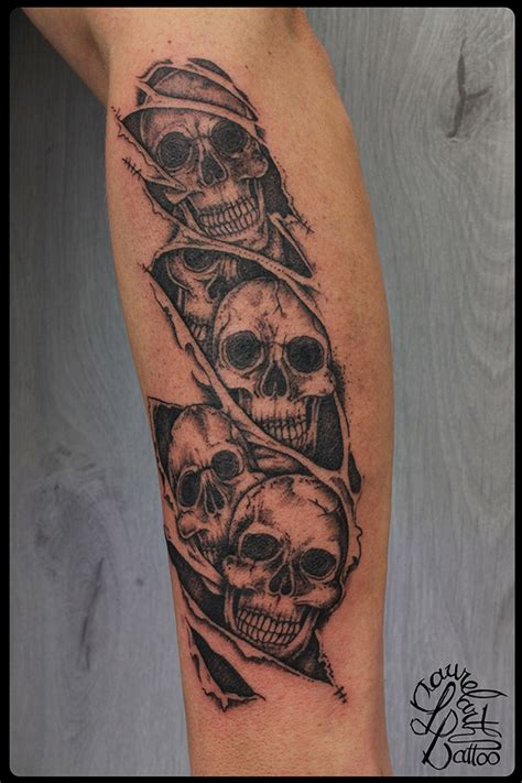 laurelarth tattoo tatouage r 233 gion lyon crane tete de mort