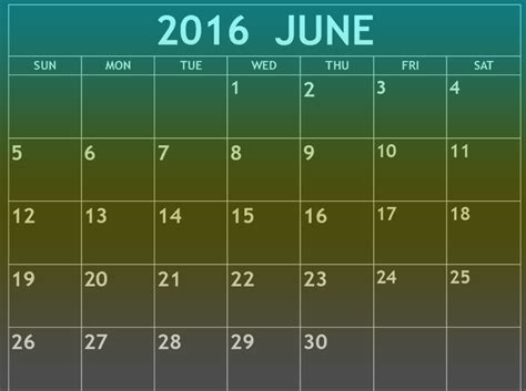printable monthly calendar 2016 india june 2016 calendar printable printable 2018 calendar