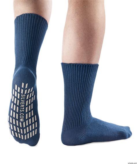 non slip socks diabetic non skid slip grip socks hospital socks 2 pack savings secure steps