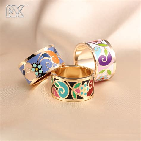 fashion rings for small adorn enamel jewelry ring cloisonne handicrafts ethnic wind