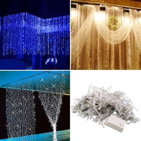 Free Shipping,3 * 3m 300 LED Curtain Happy New Year Lights