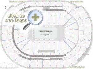 Rogers Arena Floor Plan bb amp t center seat amp row numbers detailed seating chart