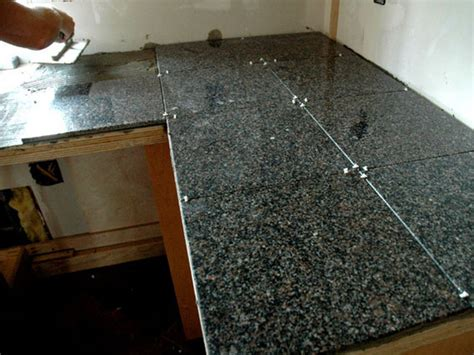 granite tile countertops on tile kitchen