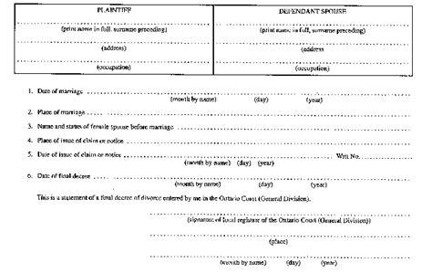 Divorce Records Ontario Document View Ontario Ca
