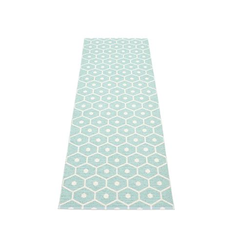Plastic Kitchen Rugs Honey Plastic Rug 70 Cm Wide Pale Turquoise 183 Vanilla Pappelina