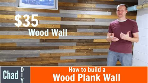 diy wood plank wall youtube