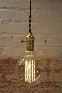 Turn knob pendant light fixture hanging plug in canopy vintage ebay