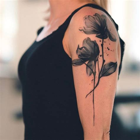 watercolor tattoos arm watercolor flowers tattoogrid net