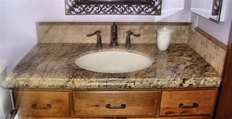 Bathroom Granite Vanity Tops Picturesque Granite Bathroom Countertops Beige Countertop On Vanity Ideas Home Design Ideas