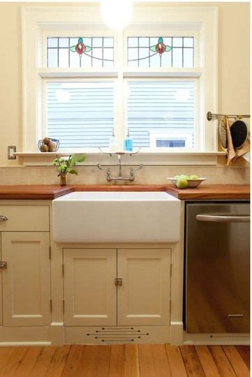 Wall Mounted Kitchen Sink Faucets love the farmhouse sink butcher block counters and the colour of the